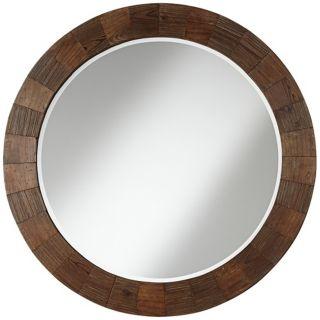 "Paneled Wood Grain 31"" High Wall Mirror   #W3839"