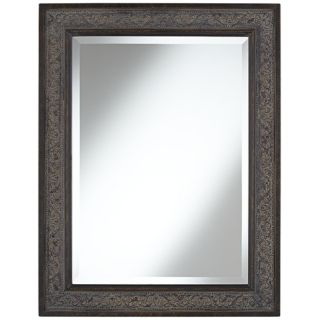 """Brown Leaves 34 1/2"""" High Traditional Wall Mirror   #W3900"""
