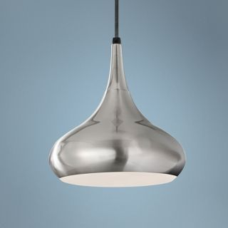 """Murray Feiss Beso 10"""" Wide Brushed Steel Pendant Light   #X4098"""