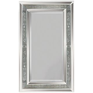 "Venetian Antiqued Glass Frame 36"" High Wall Mirror   #M4996"