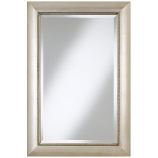 "Jocelyn Silver Beading 36"" High Rectangular Wall Mirror   #T9045"