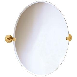"Gatco Marina Brass Finish Oval 26 1/2"" High Wall Mirror   #P7989"