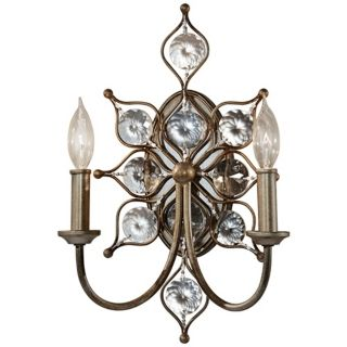 "Murray Feiss Leila 16 1/4"" High Burnished Silver Wall Sconce   #X2339"
