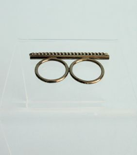 Jules Smith Rock It Knuckle Ring Gunmetal Chain 7 5 6 5 $110