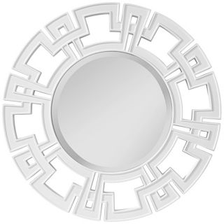 "Murray Feiss Helena 34"" Wide Round Wall Mirror   #Y8442"