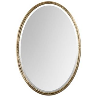 "Uttermost Casalina 32"" High Brass Oval Wall Mirror   #Y1428"