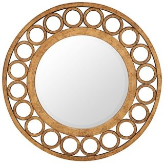 "Cooper Classics Nevis Round 36"" Gold Wall Mirror   #X7017"