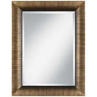 "Lexington Brushed Bronze 34 1/2"" High Wall Mirror   #V4303"