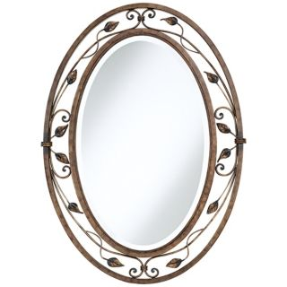 "Eden Park Collection Oval 34"" High Wall Mirror   #P5008"