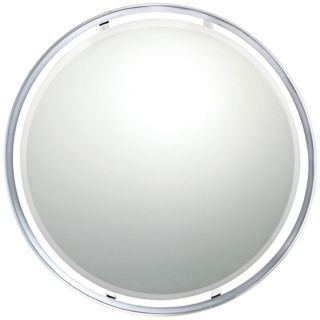 "Quoizel Uptown York 28"" Wide Round Wall Mirror   #X5883"