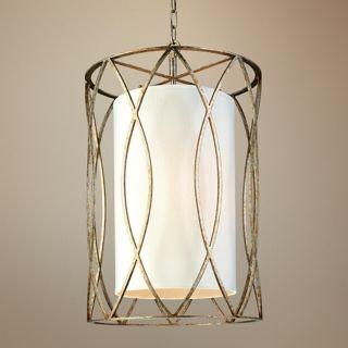 "Sausalito 28 1/4"" High 4 Light Silver Gold Pendant Light   #U5013"