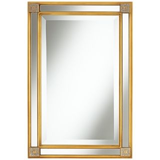 "Corner Medallion 30"" High Gold Wall Mirror   #W4285"