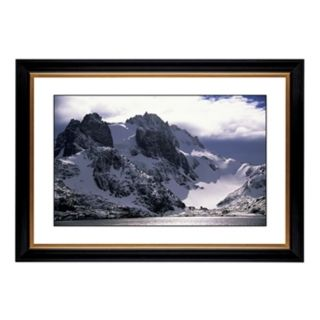 """Icy Mountain View Giclee 41 3/8"""" Wide Wall Art   #55273 80384"""