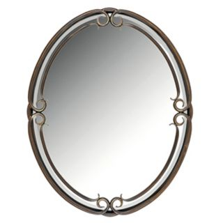"""Quoizel Small Oval Duchess 30"""" High Wall Mirror   #87015"""