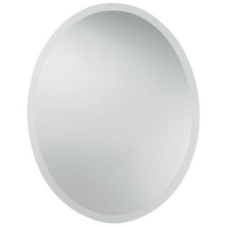 "Uttermost 28"" High Frameless Oval Wall Mirror   #00799"