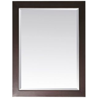 "Modero Espresso 32"" High Rectangular Wall Mirror   #R8991"