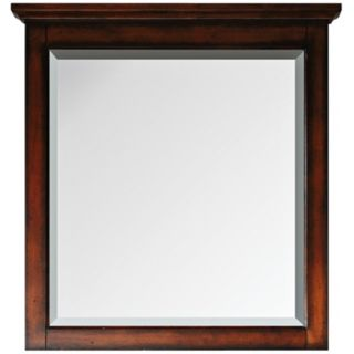 "Tropica Antique Walnut 32"" High Vanity Wall Mirror   #R9023"