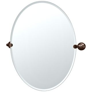 "Gatco Tiara Oiled Bronze Brackets 32"" High Oval Wall Mirror   #P5328"