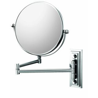 "Chrome Finish Classic Double Arm 7 3/4"" Wide Wall Mirror   #99755"
