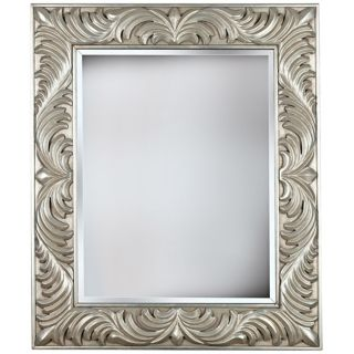 """Empress Gilded Silver 38"""" High Wall Mirror   #T5043"""