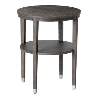 Gentry Gray Finish Limed Oak Side Table   #M2229