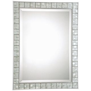 """Quoizel Vetreo Sphere 32"""" High Glass Tile Wall Mirror   #X5880"""