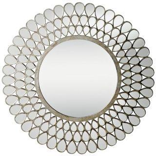 "Kichler Teardrop Silver and Glass 35"" Framed Wall Mirror   #X5777"