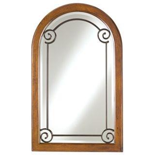 Minka Arched Walnut Burl Wall Mirror   #35110