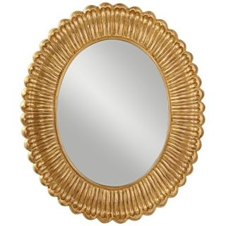 "Murray Feiss Emmet 36"" High Antique Gold Wall Mirror   #X5736"