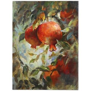 """Uttermost 38"""" High Pomegranate Bloom Hand Painted Wall Art   #V3991"""