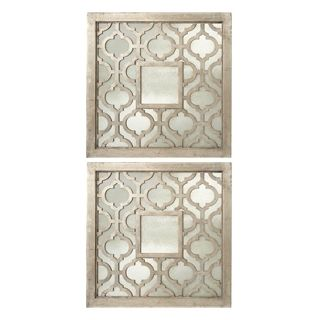 Set of 2 Uttermost Silver Sorbolo Decorative Wall Mirrors   #W0459