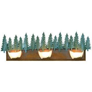 "Avalanche Collection Pine 36"" Wide Bathroom Light Fixture   #J0497"