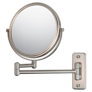 Aptations Brushed Nickel 5X Magnification Vanity Mirror   #99771
