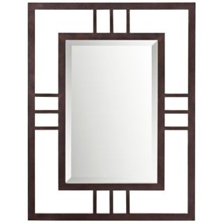 "Kichler Quadrant 34"" High Bronze Wall Mirror   #X5860"