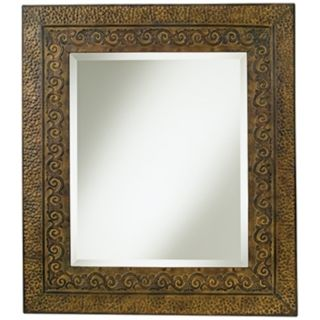 "Uttermost Jackson Rustic Bronzed 34"" High Wall Mirror   #82587"