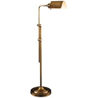 Rouen Antique Brass Adjustable Pharmacy Floor Lamp   #V0504