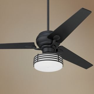 "60"" Spyder Matte Black Tapered Ceiling Fan with Light Kit   #R2183 R2492 R2158"