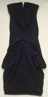 1,080 JULIEN MACDONALD Black Draped Crepe Jersey Dress 42 NWT Net A