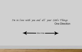 One Direction Wall Quote Sticker Girls Bedroom Wall Art Little Things