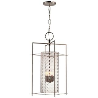 "Hudson Valley Esopus 12"" Wide Nickel Pendant Light   #V3760"