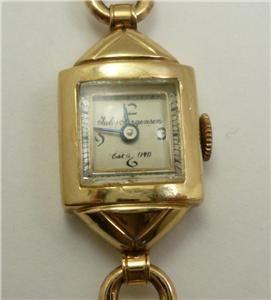 Vintage Jules Jurgensen 14k Gold Ladies Bracelet Watch
