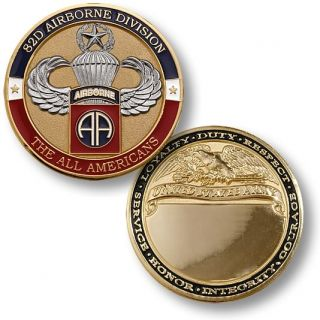 United States Army 82nd Airborne Master Jump Coin Medal