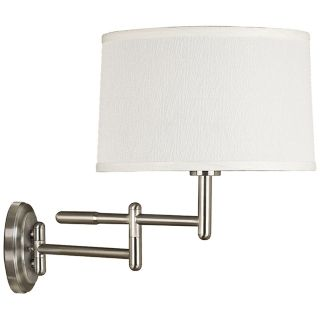 Kenroy Home Theta Brushed Steel Plug In Swing Arm Wall Light   #R8686