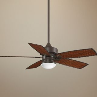 "52"" Fanimation Cancun Bamboo Blade Ceiling Fan with Light   #T3051"