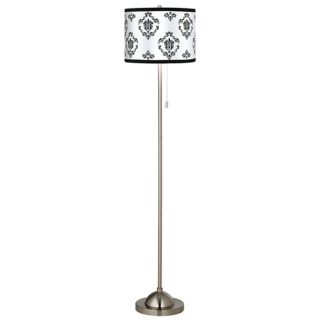 Pewter, Country   Cottage Floor Lamps