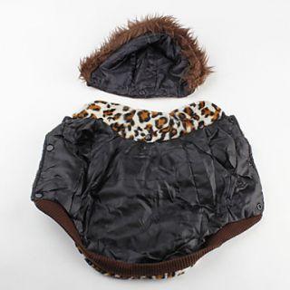 USD $ 12.69   Leopard Print Sherpa Warm Hoodie Coat for Dogs (XS XL