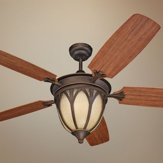"""54"""" Monte Carlo Grand Isle Outdoor Ceiling Fan with Light   #T8569"""