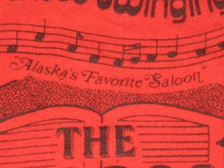 Vintage 80s Red Dog Saloon Juneau Alaska T Shirt XS Small Bar Beer
