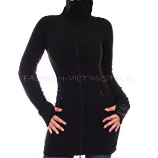 Neu Sexy Damen Fleece Jacke Fleece Mantel Stehkragen Pullover