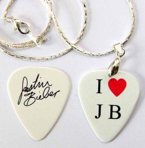 Hart JB Justin Bieber Necklace Matching Guitar Pick